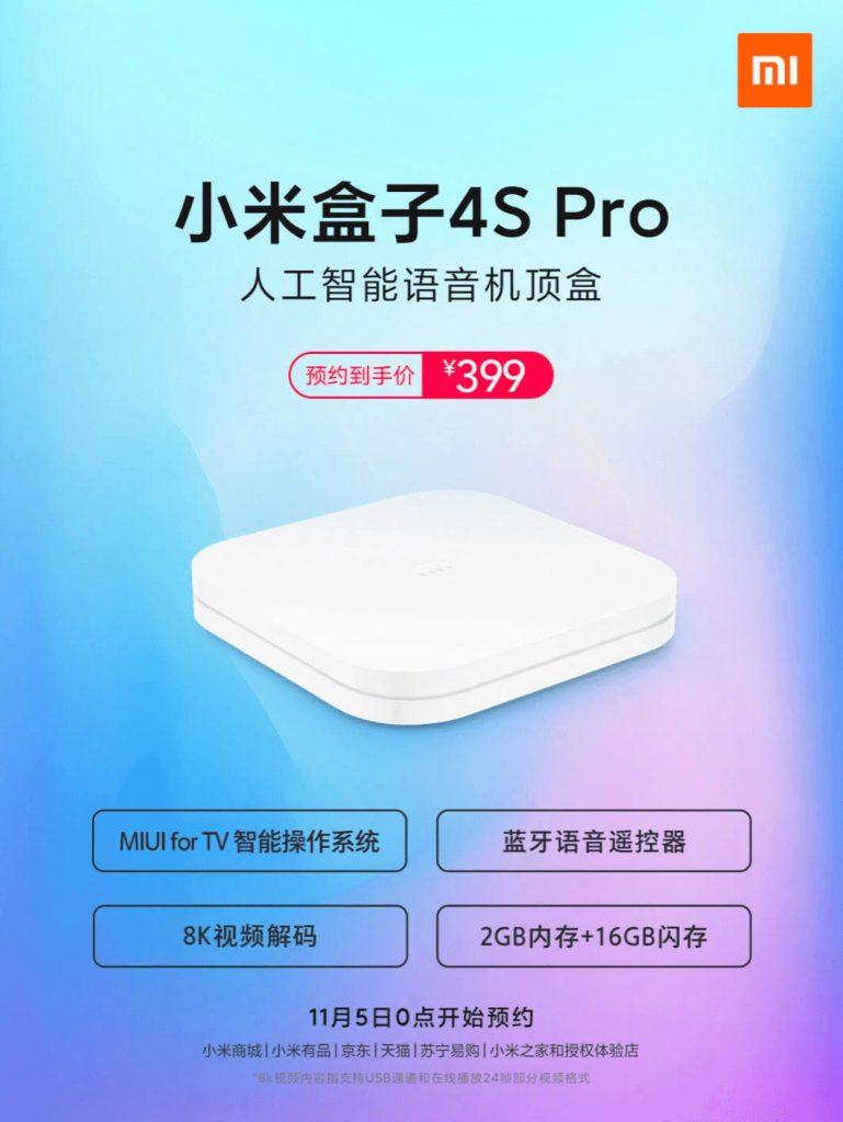 Xiaomi Mi Box 4S Pro hdmi 2.1