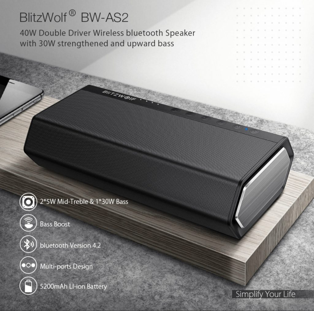 BlitzWolf AS2 na EU sklade len za 42 EUR ✅